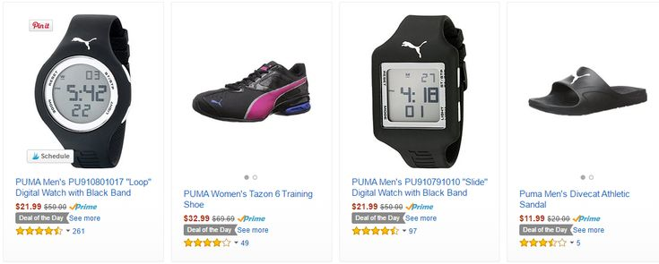 Amazon Deal of the Day up to 50% OFF Puma Sandals, Shoes, Watches- TODAY ONLY - http://www.mybjswholesale.com/2016/05/amazon-deal-day-50-off-puma-sandals-shoes-watches-today.html/