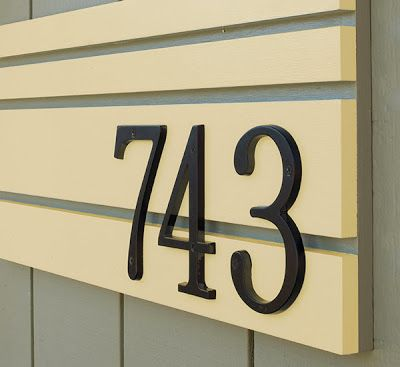 I like the shape of these numbers.  Mad for Mid-Century: Mid-Century Modern House Numbers Project