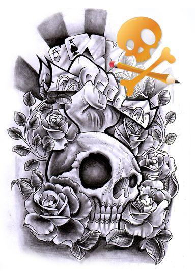 commission skull dollar cards by willemxsm on deviantart skulls pinterest skull tattoo. Black Bedroom Furniture Sets. Home Design Ideas