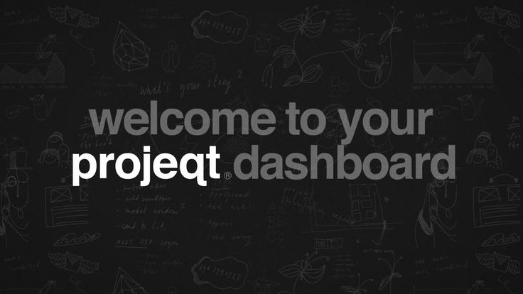 Welcome to your projeqt dashboard