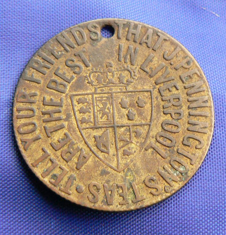 RARE LIVERPOOL SPADE GUINEA TRADE TOKEN J PENNINGTONS TEA