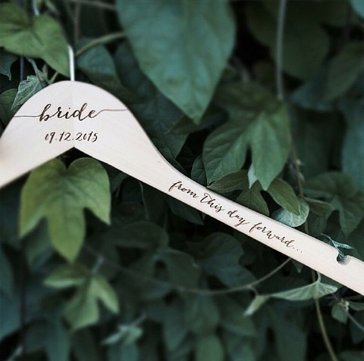personalized bride  hanger