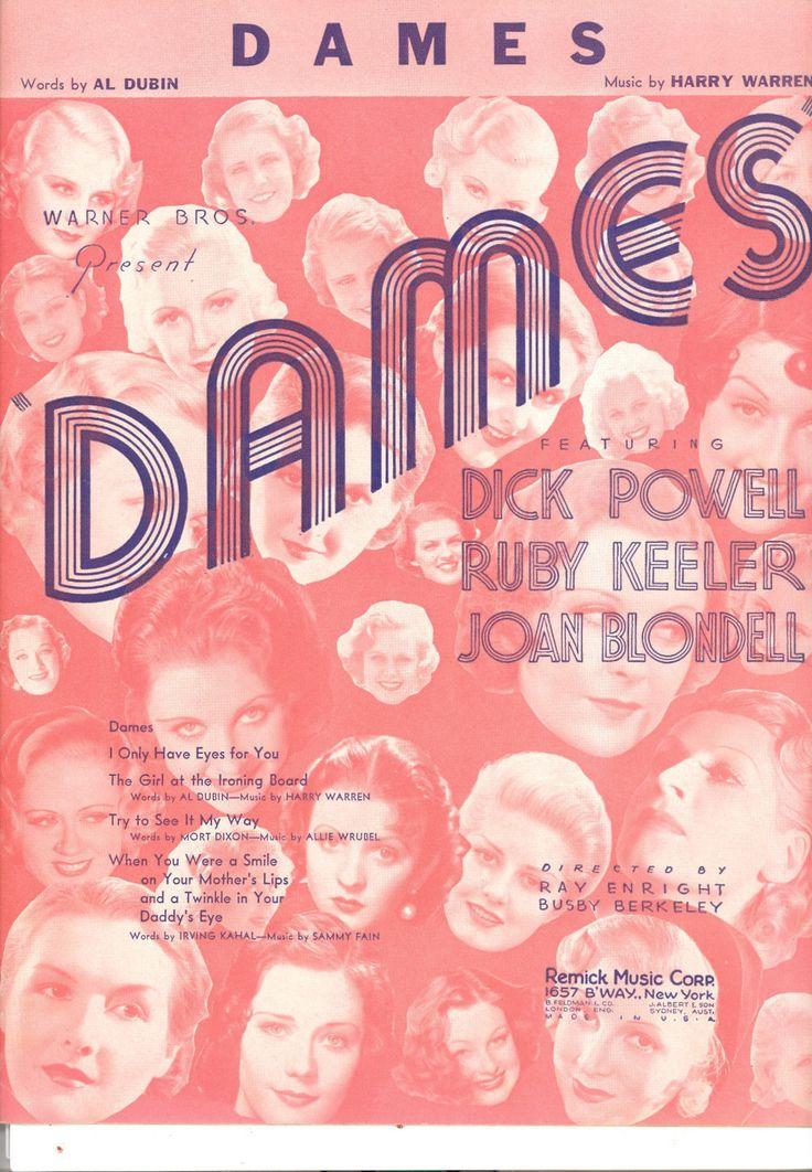 Dames music sheet