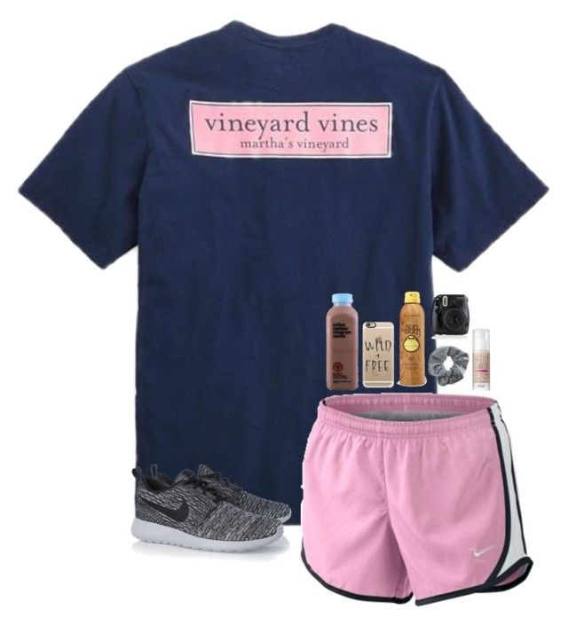 """"""""""" by leawhite ❤ liked on Polyvore featuring Vineyard Vines, NIKE, Casetify, Sun Bum, Benefit and Topshop"""