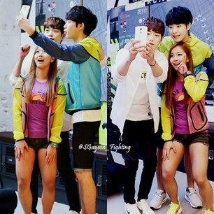 Son Gaeun selca with minwoo ang kangjoon