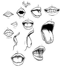 Image result for open mouth drawing tutorial