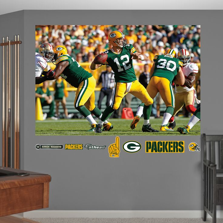 High Quality Fathead Green Bay Packers Aaron Rodgers Pass Mural   Wall Sticker, Mural, U0026  Decal Designs At Wall Sticker Outlet Part 31