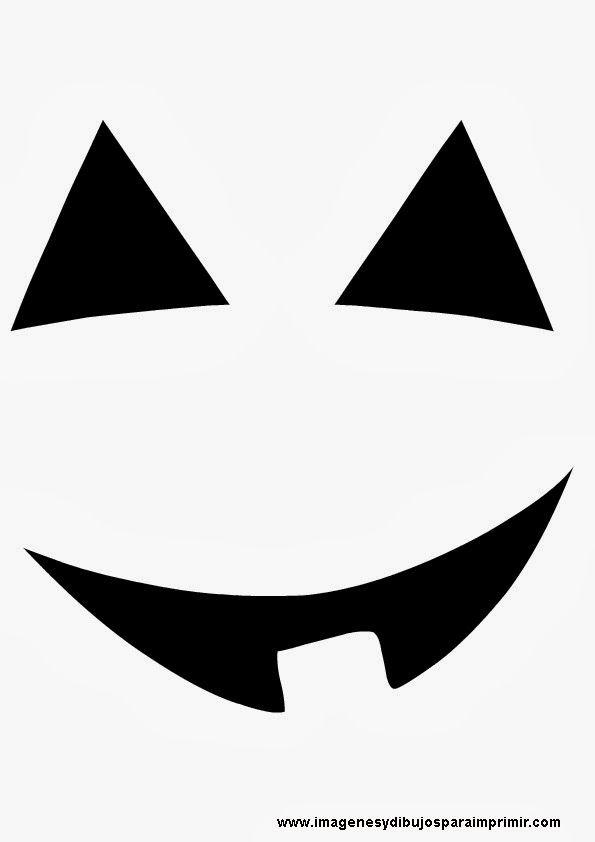 Cara De Calabaza Sonriendo Halloween Crafts Pumpkin Face Templates Halloween Deco