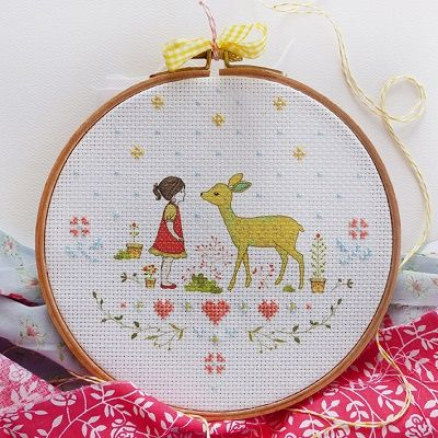 "DMC Embroidery Kit ""Nature Girl"" by Tamar Nahir-Yanai 