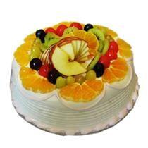 send cake to celebrate , delhi, mumbai india send online cake and flowers:FRUITY CAKE