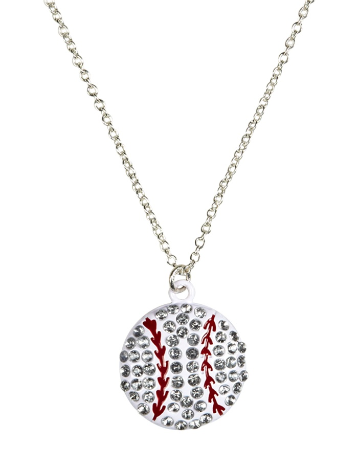 Rhinestone Softball Necklace | Necklaces | Jewelry | Shop Justice