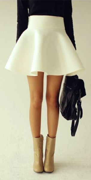 Cute skater skirt and boots