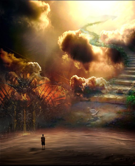 pictures of Heaven verses hell deviantart | Between Haven And Hell...