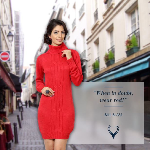Our red woolen dress is perfect to brighten up a gloomy, winter evening. Now at Rs. 2,294  Image courtesy: Deviant art