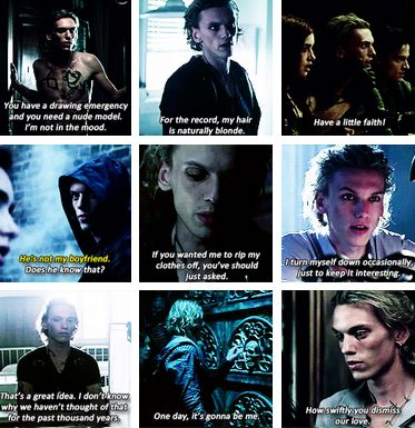 They could have done better with the movie but at least they got all of the funny Jace quotes!