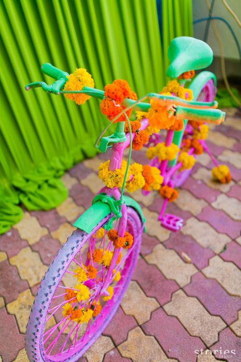 Мехенди фотокабине реквизита розовый велосипед Шонан & Адеша