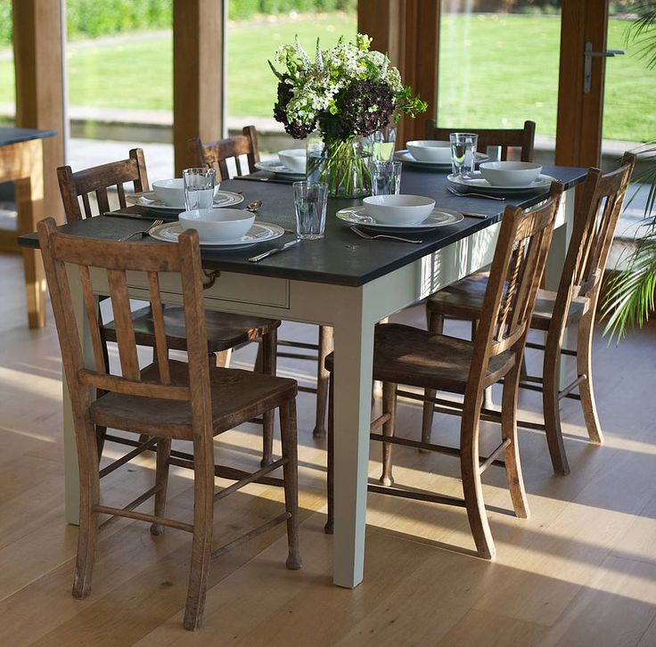 Best Slate Top Tables Images On Pinterest Slate Diy And Projects