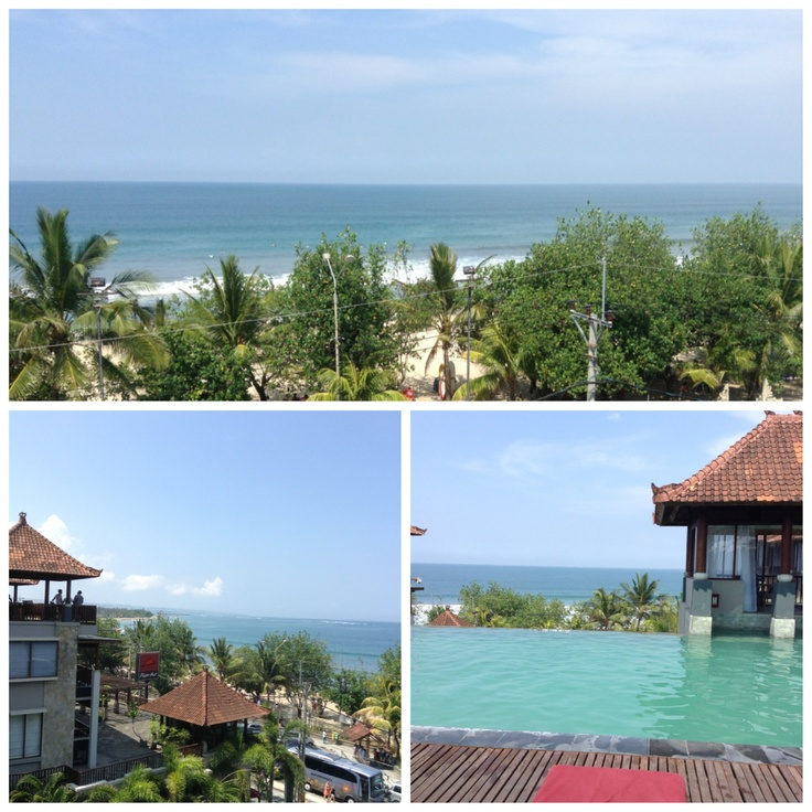 Roof top view from Mercure hotel at Kuta, Bali