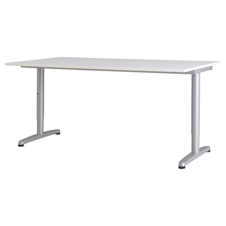 GALANT Desk - white, T-leg - IKEA