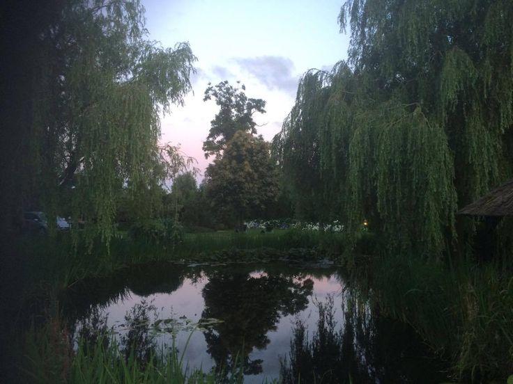 De zonsopkomst is prachtig te zien vanaf de tuin.