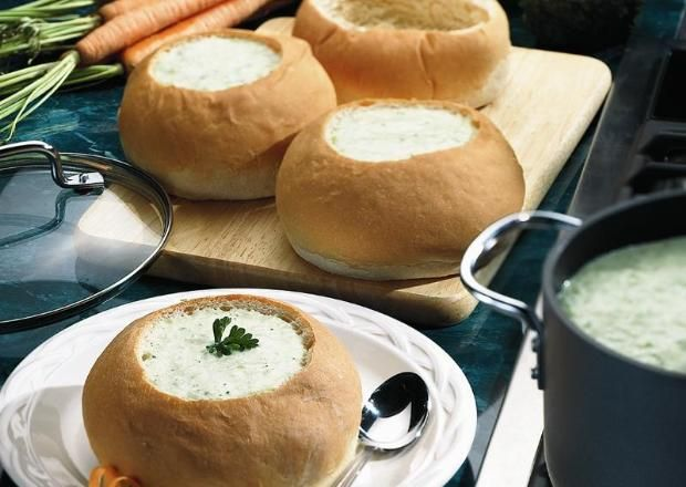 I found this recipe for Bread Machine Bread Bowls, on Breadworld.com. You've got to check it out!