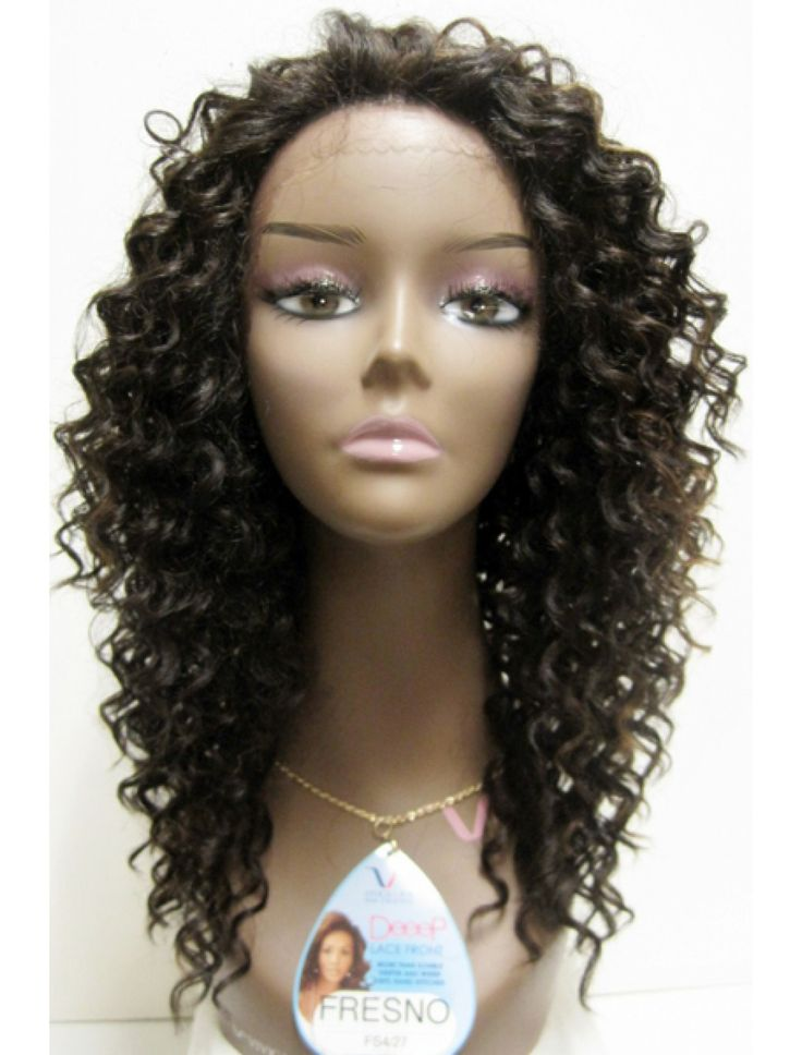 FRESNO-V is an 18 inch wig with layered tight spiral curl all around. Its high heat resistant fiber not only curls well, but also keeps the curl longer to keep the hair look beautiful and bouncy. It i
