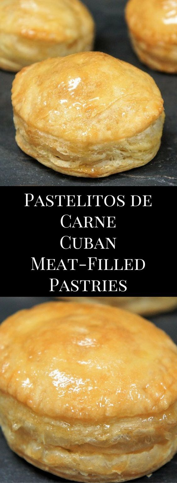 Pastelito de carne is Spanish for meat filled pastry. It's a puff pastry filled with savory picadillo and topped with a sweet glaze. Pastelitos de carne can be found in Cuban cafeterias all over Miami. traditionally, the picadillo in the pastelitos is made with ground beef, but I use ground turkey in this recipe. Don't worry though, all the flavor is there thanks to a mix of veggies, Spanish olives and spices.