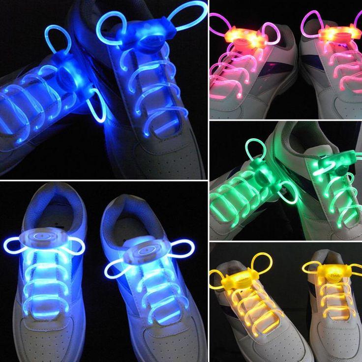 1 Par Light up Moda Cordones Luminosos LED Flash Party Cuerdas Brillantes Zapatos de Patinaje para Niños y Niñas