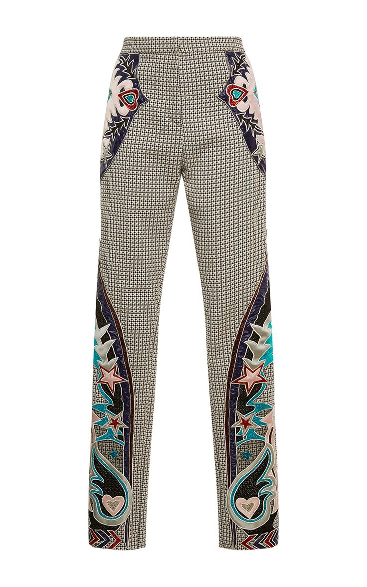 Labyrinth Embroidered Trouser  by MARY KATRANTZOU Now Available on Moda Operandi