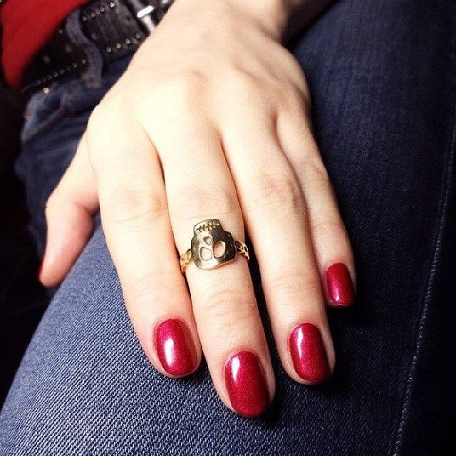Here is a sterling silver ring with Freddy-the-skull detail. It can be worn as a regular fit ring or as a mid-finger ring. Both ways it looks stylish and trendy.Amorem. Handmade. Sterling silver