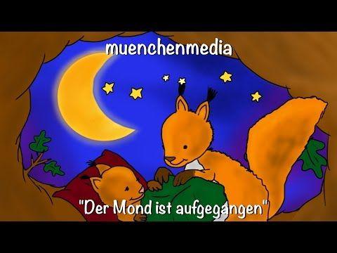 Der Mond ist aufgegangen - Kinderlieder deutsch   Schlaflieder deutsch - muenchenmedia - YouTube