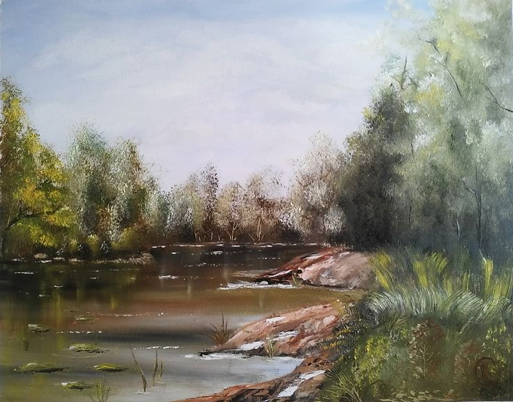 Lassú folyó 40x50cm Olaj ,farost