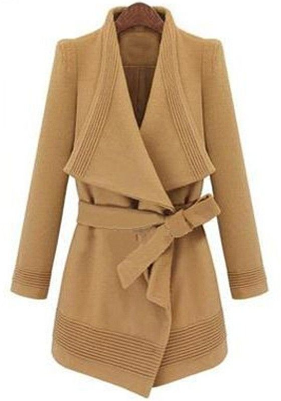Love the Collar! Love the Design! Camel Color Belted Wool Coat #Camel #Color #Belted #Wool #Coat