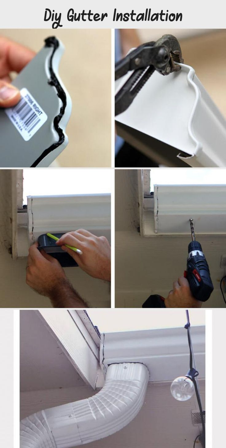 Diy gutter installation diy gutters how to install