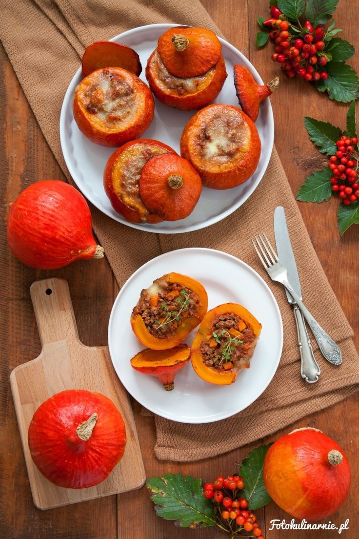 Vegetables and Beef Stuffed Hokkaido Pumpkin with Mozzarella Topping.