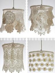 Doily/Crochet lampshades
