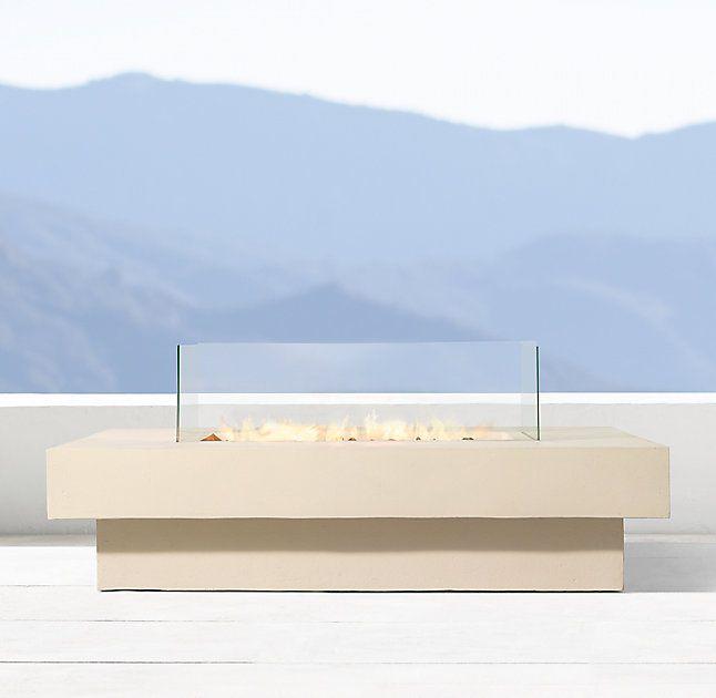 Makena Rectangular Fire Table