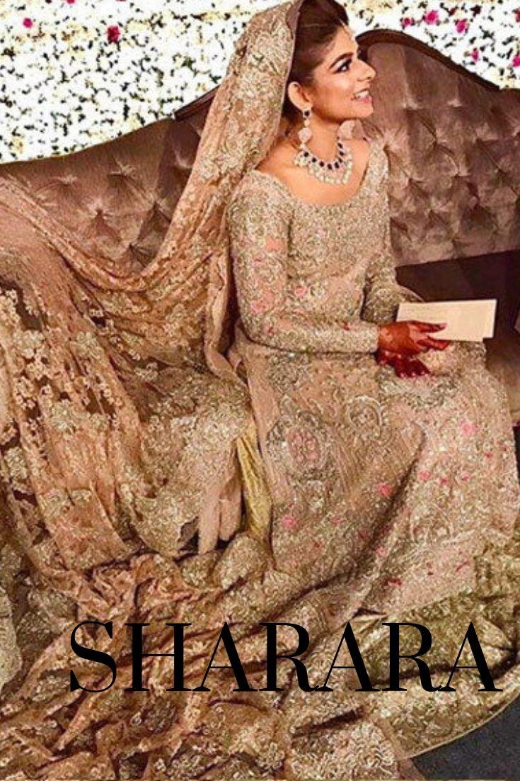 Wedding Sharara Pakistani Bride Desi Wedding Dresses Pakistani Bridal Lehenga