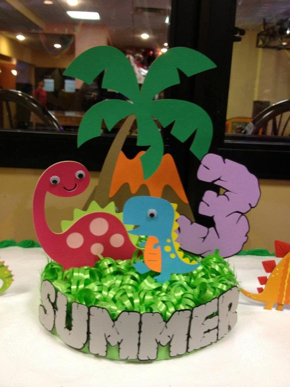 Dinosaur Birthday Party Cake topper Great for by YourPartyPeople, $40.00