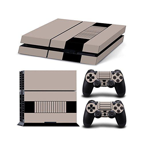 HamburPs4 Console Designer Protective Vinyl Skin Decal Cover for Sony Playstation 4  Remote Dualshock 4 Wireless Controller Stickers  ps4 skin retro * Learn more by visiting the image link.Note:It is affiliate link to Amazon.