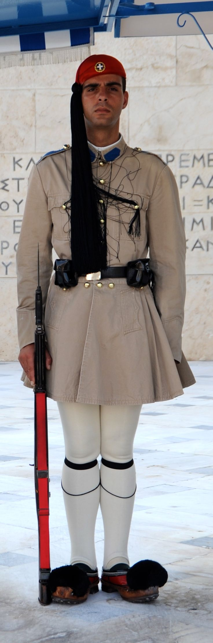 Greek Evzone guard in front of the Syntagma Square, Athens