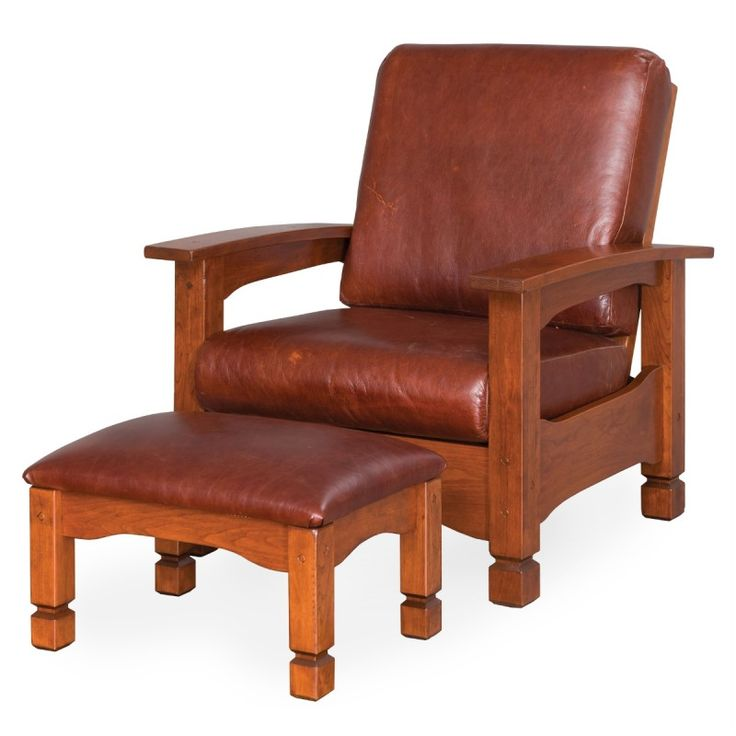 Amish Mission wooden Morris armchair with solid