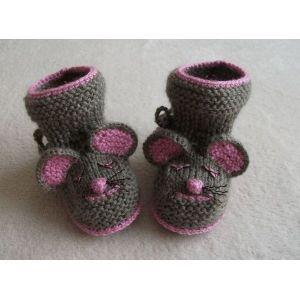 Младенцев пинетки Мышки
