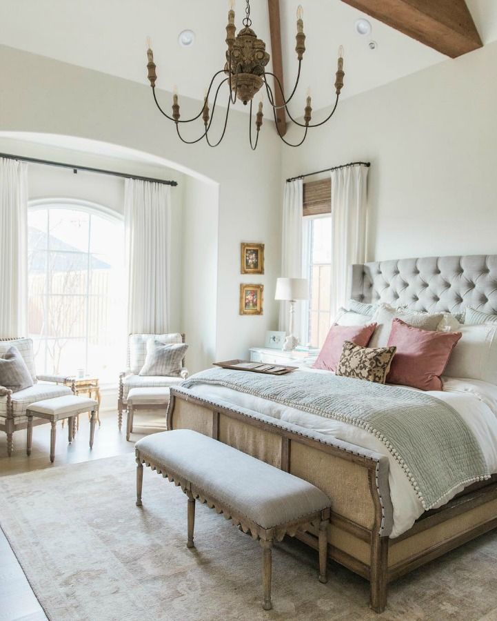 Get The Look Lovely Country French Bedroom Decorating With Gentle Palette Hello Lovely French Bedroom Decor French Country Decorating Bedroom French Country Bedrooms,54 Inch Round Table Seats How Many