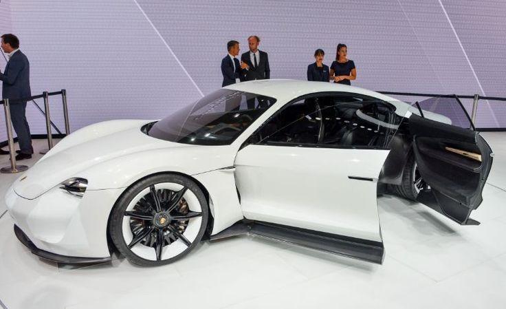 Porsche Mission E concept via onreact