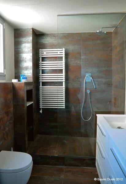 Griferia Baño Rustico:Decoracion #Rustico #Baño #Sanitarios #Vidrio #Griferia #Baldosas