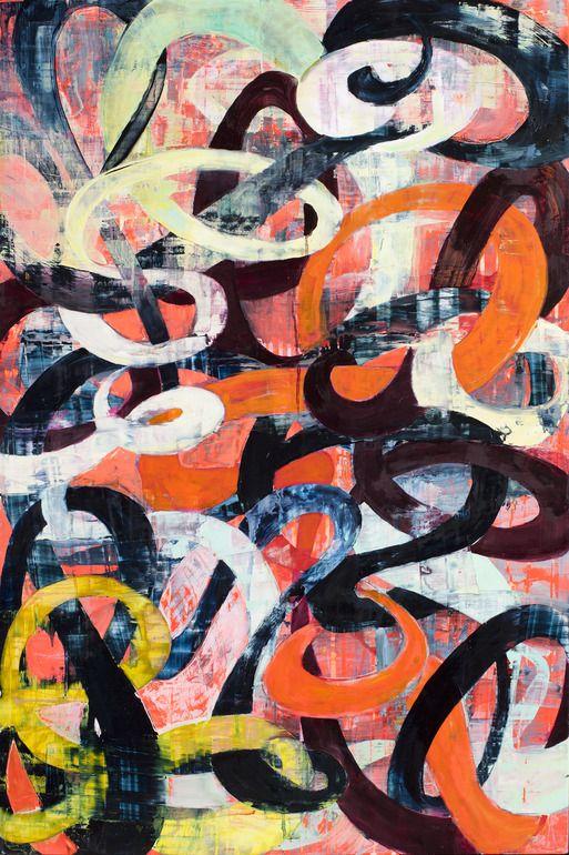 """Saatchi Art Artist: Galen Cheney; Oil 2012 Painting """"Calligraffiti III"""""""