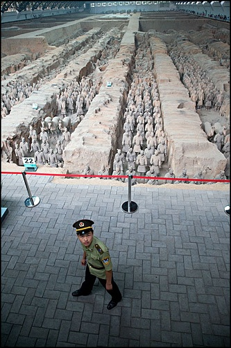Terracotta Army Guard Xian | China photo I guess as they are so Ancient, they