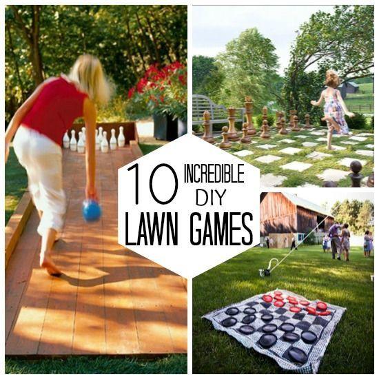 10 Incredible DIY Lawn Games- let the games begin!
