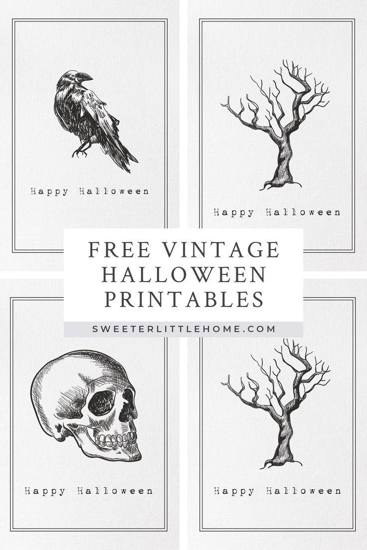 Free printable vintage Halloween wall art Vintage